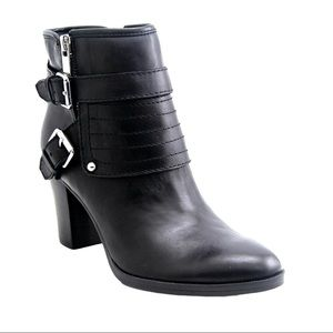 Marc Fisher Leather Heeled Anke Moto Bootie 8.5